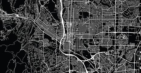 Urban vector city map of Colorado Springs, Colorado, United States of America