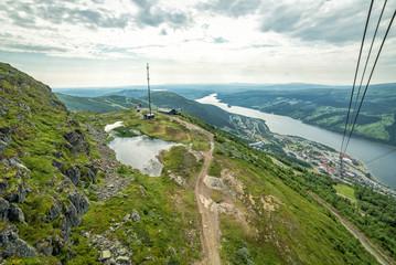 Cabin lift panorama - Swedish summer mountains