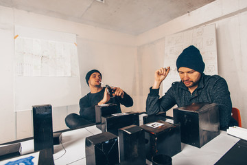 Two robbery guys planning robbery