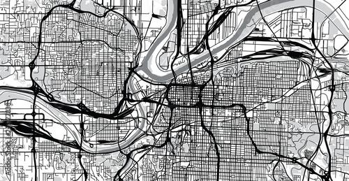 Map Of America Kansas City.Urban Vector City Map Of Kansas City Missouri United States Of