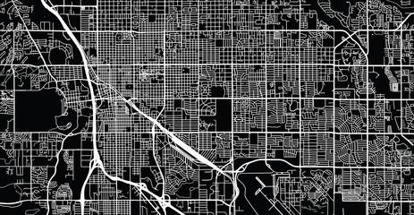 Urban vector city map of Tucson, Arizona, United States of America