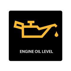 warning dashboard car icon, engine oil level