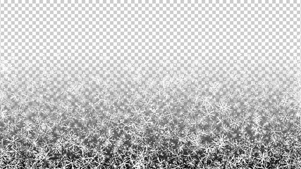 Snowflakes doodle background. Snowfall confetti backdrop. Winter holiday. New Year. Christmas. Falling snow. Sketch vector. Celebration.