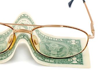 spectacles change dollar money