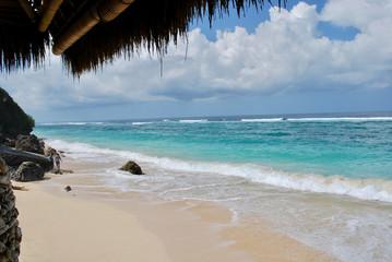 Beach landscape in Bali, Indonesia
