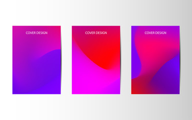 Minimal covers design. Abstract creative templates, cards, color covers set. Geometric design, liquids, shapes. Vector illustrations