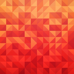 Abstract geometric vector background in red color with triangle tile pattern - Illustration of Modern design element.