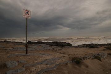 Mer agitée à Saint Pierre La mer