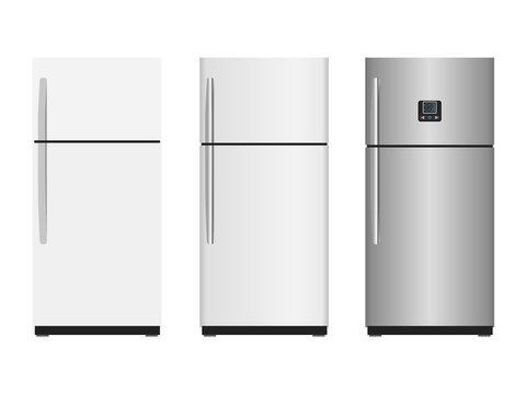 Closed refrigerators - vector illustration or graphic design element