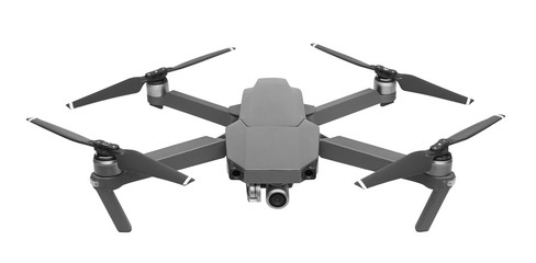 Drone isolated on white Wall mural