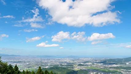 Wall Mural - 都市風景 福岡市 米の山展望台からの風景 ノーマルスピード