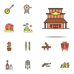 bar of the wild west colored icon. Wild West icons universal set for web and mobile