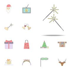 Bengal light colored icon. Christmas holiday icons universal set for web and mobile