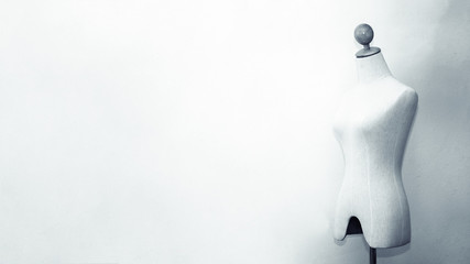 background of mannequin for female on black and white