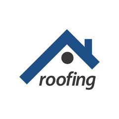 Roofing logo concept design. Symbol graphic template element