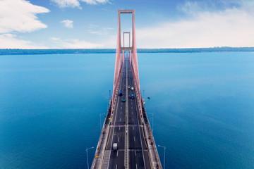 Famous Suramadu bridge in East Java