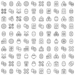 Easter Vector Line Icon Set