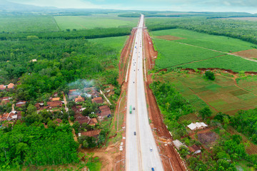 Ungaran toll road with residential in Central Java