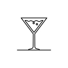 cocktail, drink, martini glass icon. Element of kitchen utensils icon for mobile concept and web apps. Detailed cocktail, drink, martini glass icon can be used for web and mobile