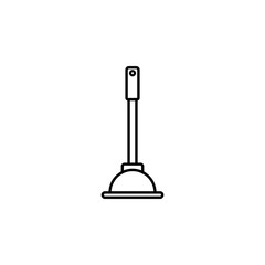 cup plunger, drain cleaning equipment icon. Element of kitchen utensils icon for mobile concept and web apps. Detailed cup plunger, drain cleaning equipment icon