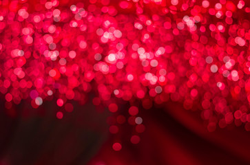 Red bokeh background for Valentine 's Day Concept