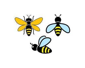 honey Bee Logo Template vector icon illustration