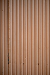 Beige corrugated metal zinc wall