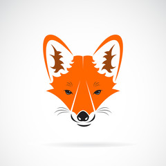 Vector of a fox face design on a white background, Wild Animals. Easy editable layered vector illustration.
