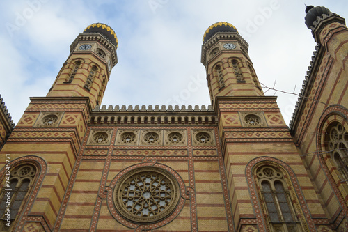 Exterior of Great (Central) Synagogue in Budapest on