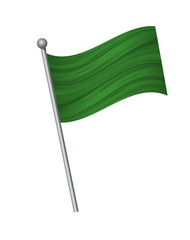 waving of flag on flagpole, Official colors and proportion correctly. vector illustration isolate on white background.