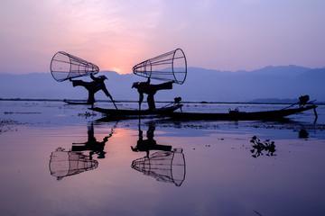 Fishermen at Inle Lake, Myanmar