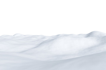 White snowy field isolated on white Wall mural