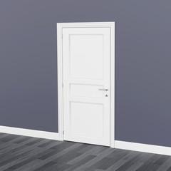 closed door 3D