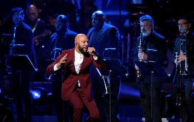 "Singer Common performs ""Young, Gifted and Black"" during the taping of ""Aretha! A Grammy Celebration For The Queen Of Soul"" at the Shrine Auditorium in Los Angeles"