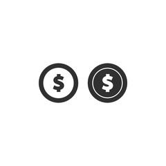 Money icon. vector coin icon flat illustration EPS10