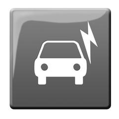 electric car symbol button