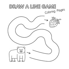 Cartoon Bear Coloring Book Game for Kids