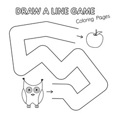 Cartoon Owl Coloring Book Game for Kids