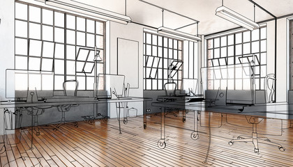 Industrial Office Area (drawing)