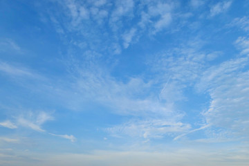 Blue sky with stratus cloud