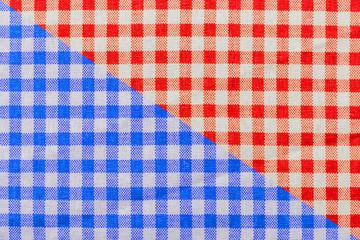 tissu Vichy bicolore
