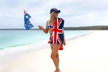 Aussie Aussie Aussie girl patriotic