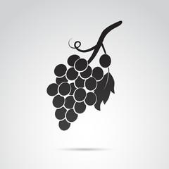 Grape fruit bunch vector icon.