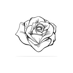 rose Icon. Vector concept illustration for design.