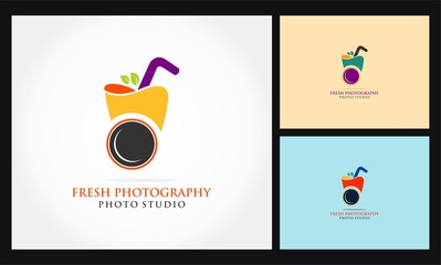 fresh photography icon vector logo