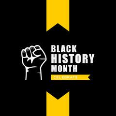 Black History Month Vector Design