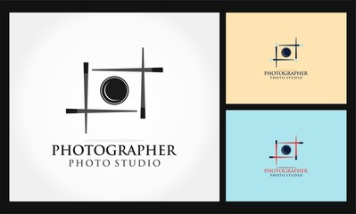 photographer icon vector logo