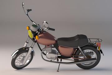 Petite moto custom -3D