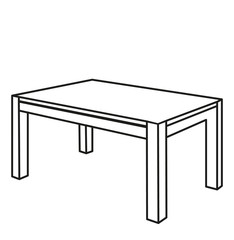 sketch furniture table, isolated