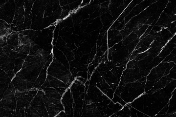 Patterned detailed of black and white marble pattern texture for product design. abstract dark background.